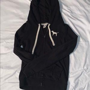 Vs pink black zip up with hood